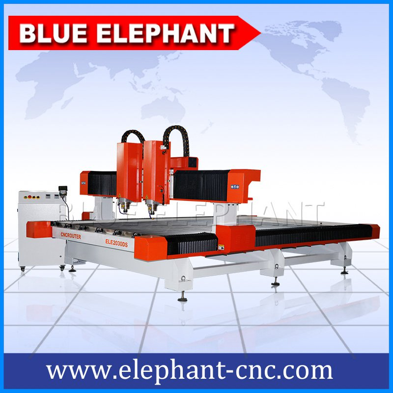 2030ds double separate heads stone cutting and carving machine
