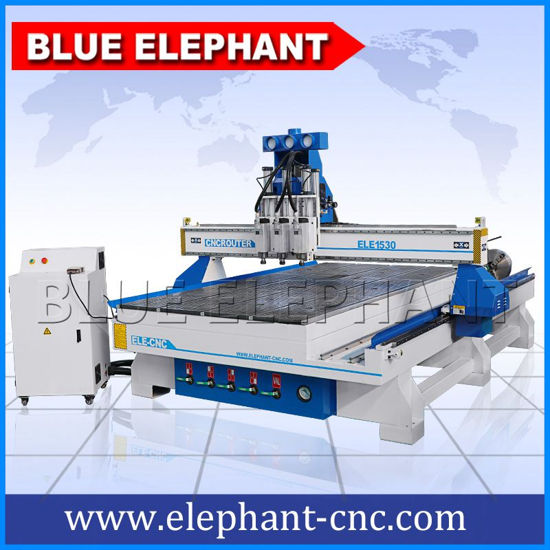 03 1530 pneumatic system 3 spindles cnc router with rotary device
