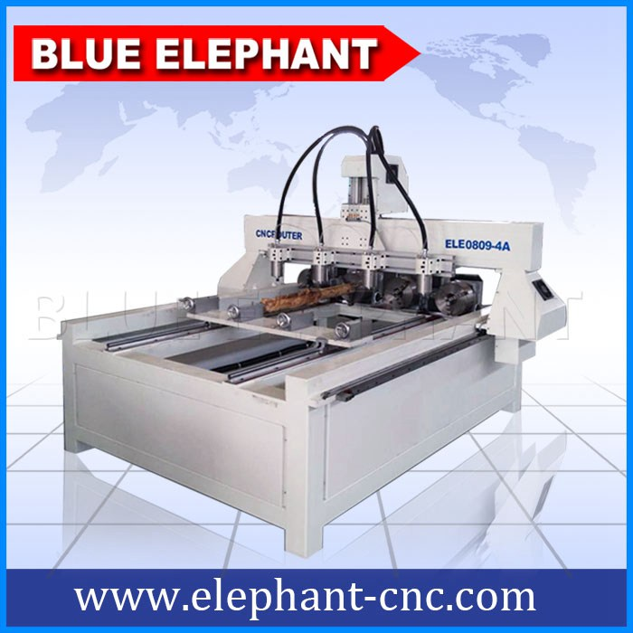 0809 4 axis 4 spindles cnc router with rotary device -1