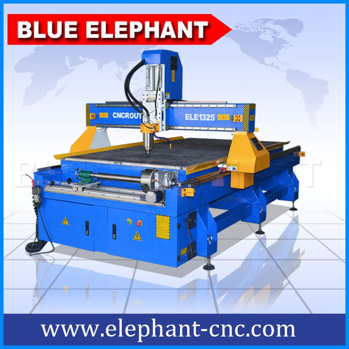 1325-4 4 axis cnc router with rotary device in front -1
