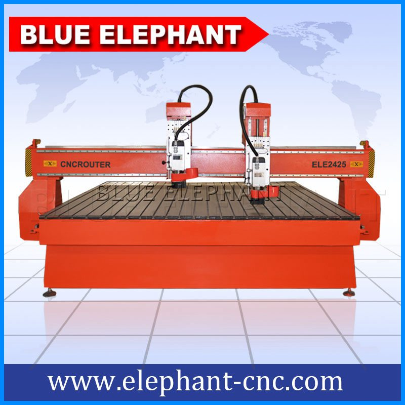 2425 Two Heads 3d Cnc Router Machine 2