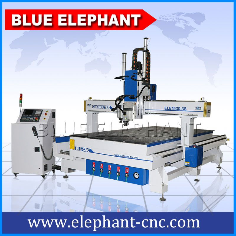 1530-3s 4 axis pneumatic system 3 spindle cnc router -1