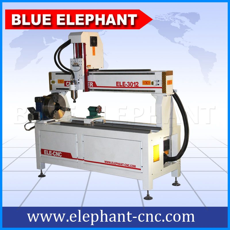 3012-4 rotary device cnc router without working table -1