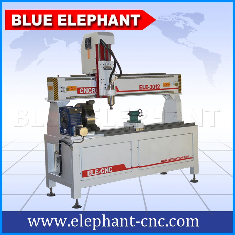 3012-4 rotary device cnc router without working table -2