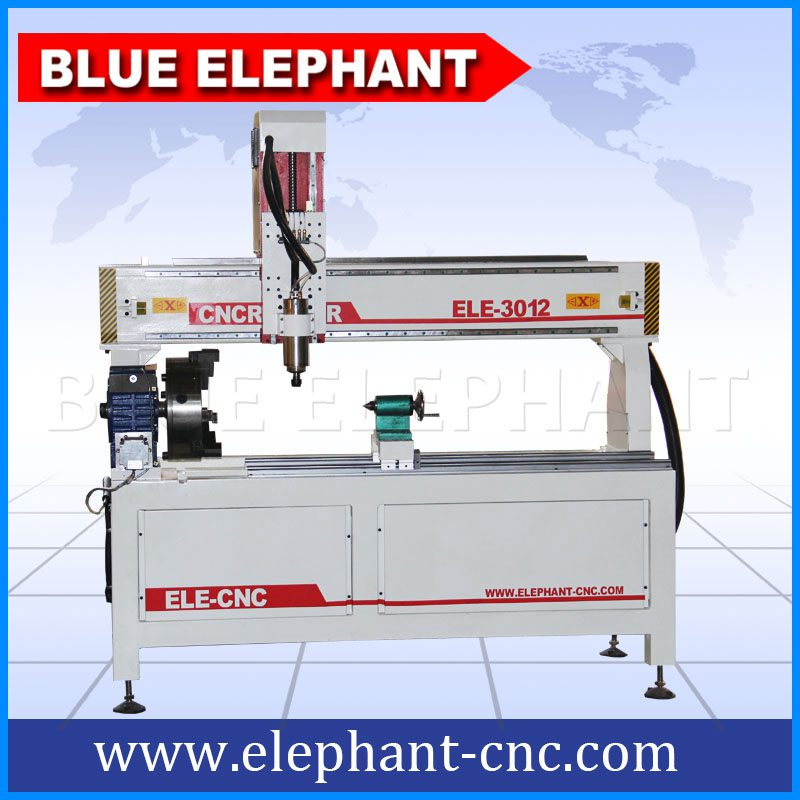 3012-4 rotary device cnc router without working table -3
