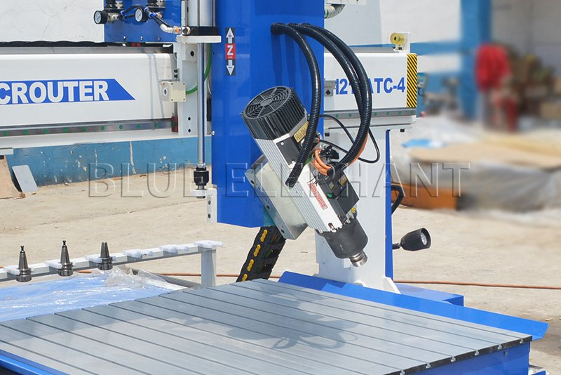 hsd 9kw spindle of 1212 4 axis atc cnc router with siemens 828d controller