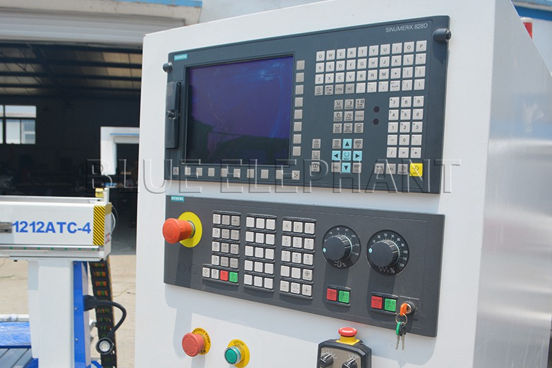 siemens control system of 1212 4 axis atc cnc router with siemens 828d controller