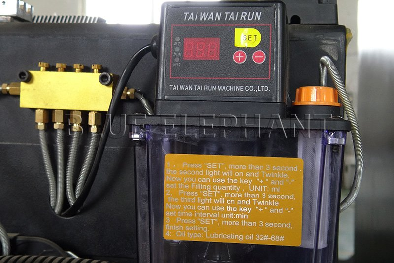 lubrication system of 2040 plasma and flame cutting machine