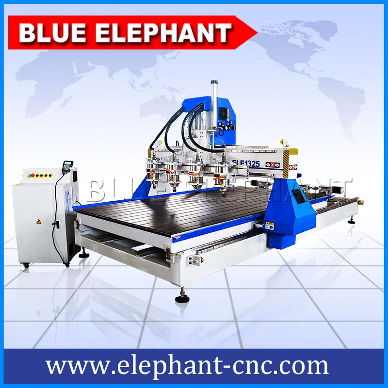 01 1325 working table can be disassembled multi spindles cnc router