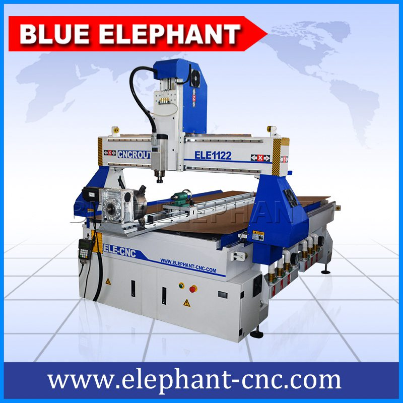 03 1122 4 axis cnc router with rotary device on table surface