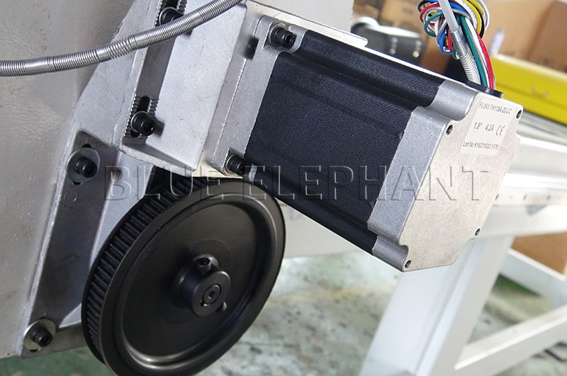 fl118 stepper motor of 1212 3 axis cnc router with helical rack and gear drive