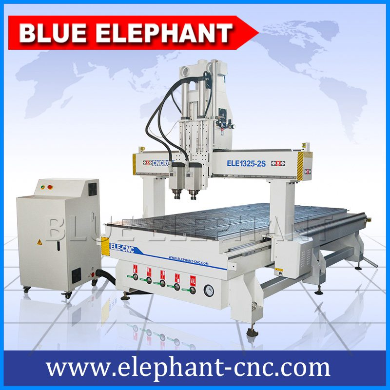 1325 pnuematic system 2 spindles cnc router with high z travel