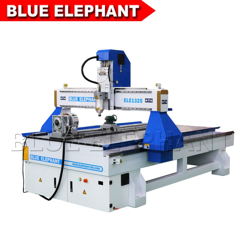 02 1325 4 axis wood router with moving rotary device