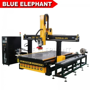 1530 carousel atc cnc router with rotary device