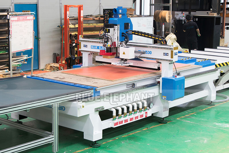 1530 Cnc Nesting Machine For Wooden Furniture Blue