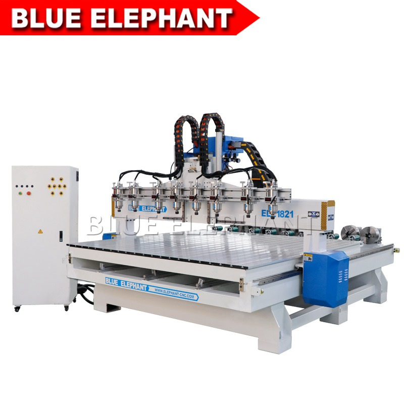 1821 8 Spindles Woodworking Cnc Router Machine Blue