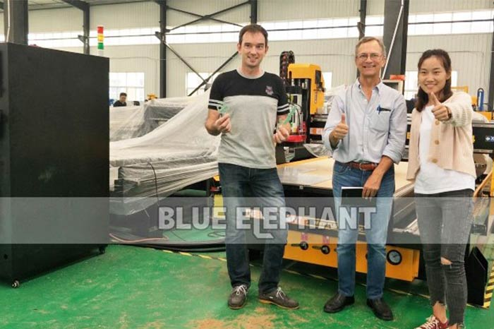 Customer-for-Checking-His-Customized-CNC-Machine
