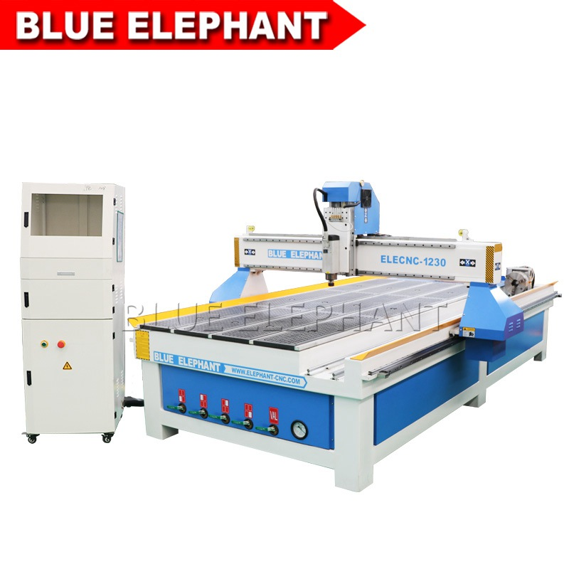 1230 custom made cnc wood cutter machine with rotary axis