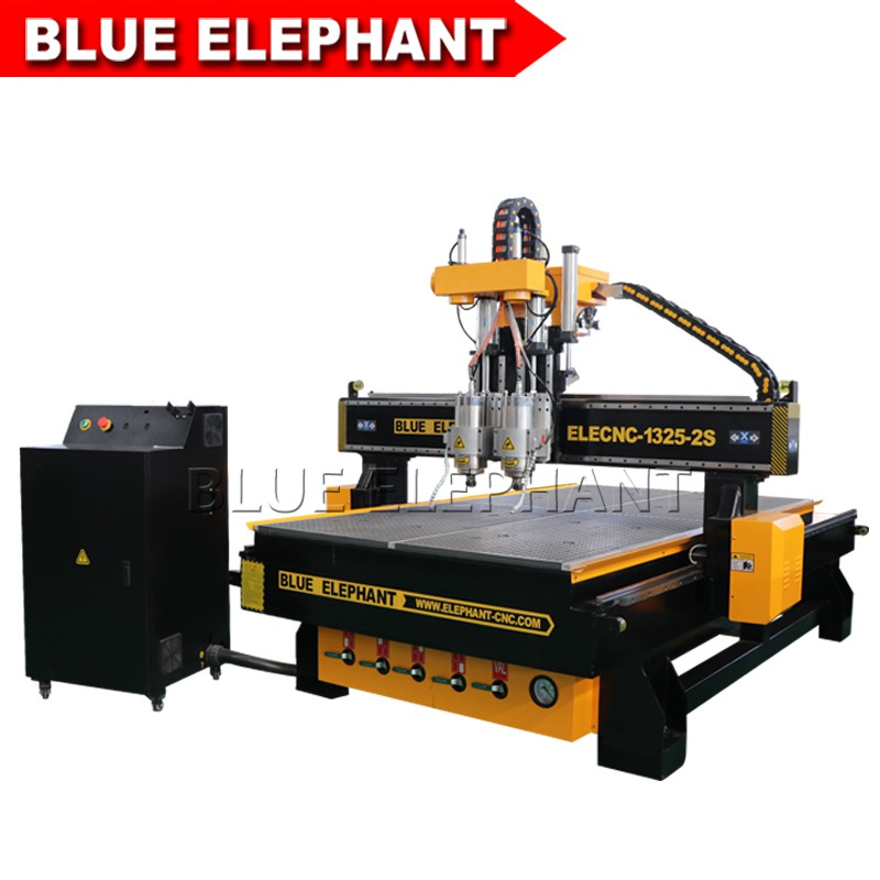 1325 multi spindles cnc machine for engraving door